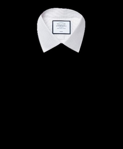 Chemise à motif à effet tirets grise extra slim fit sans repassage