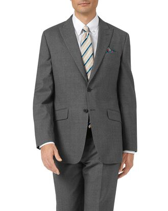 Charcoal classic fit Panama puppytooth business suit jacket