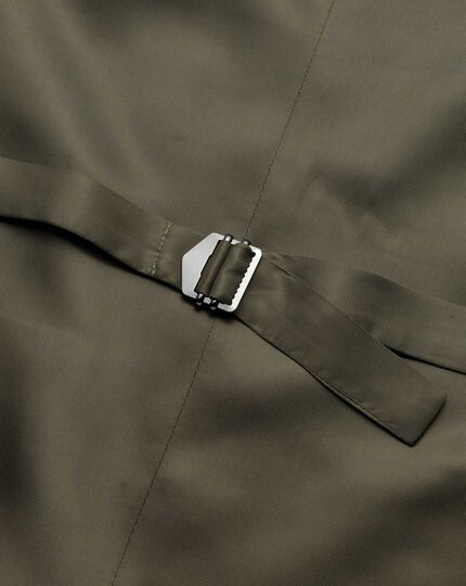 Olive adjustable fit twill business suit vests