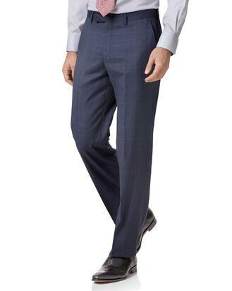 Airforce blue classic fit Italian suit pants