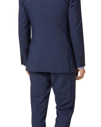 Slim Fit Anzugsakko aus Stepweave-Gewebe in Marineblau
