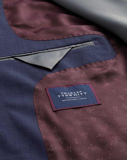 Veste de costume Travel bleu acier en tissu peau de requin slim fit