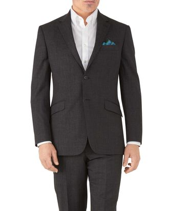 Charcoal classic fit hairline business suit