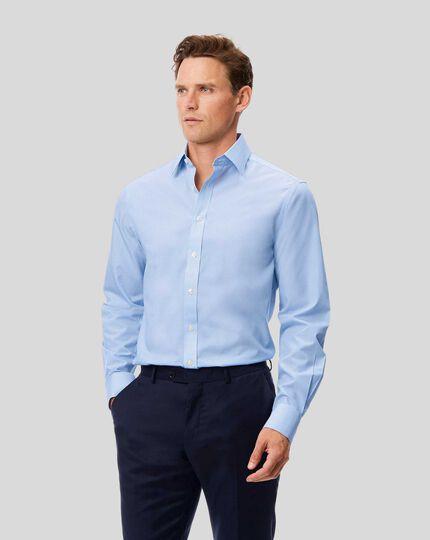 Classic Collar Non-Iron Bengal Stripe Shirt - Sky