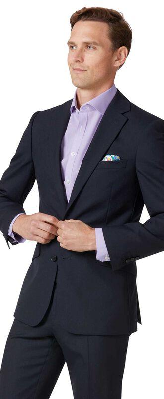 Slim Fit Businessanzug-Sakko aus Merino in Mitternachtsblau