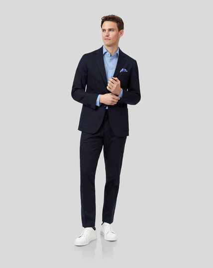Italian Cotton Suit - Navy