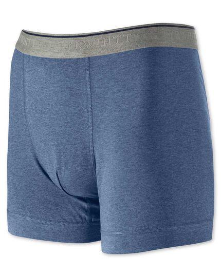 Caleçon bleu stretch en jersey
