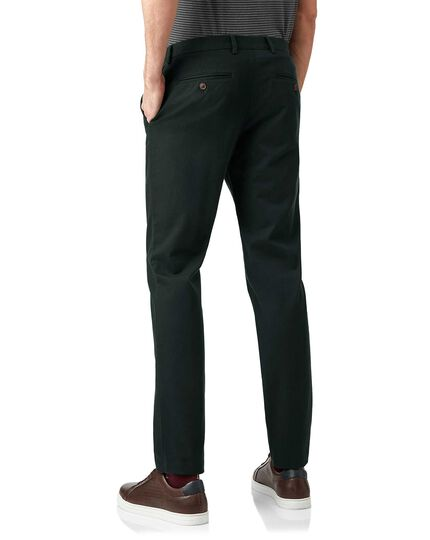 Dark green non-iron ultimate chinos
