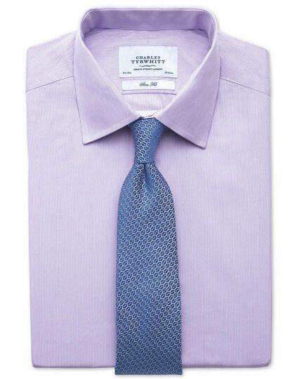 Classic fit fine stripe lilac shirt