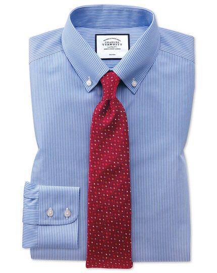 Non-Iron Stripe Shirt - Blue And White