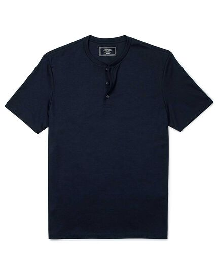 Navy short sleeve Henley t-shirt