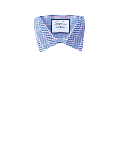 Extra slim fit Prince of Wales check blue shirt