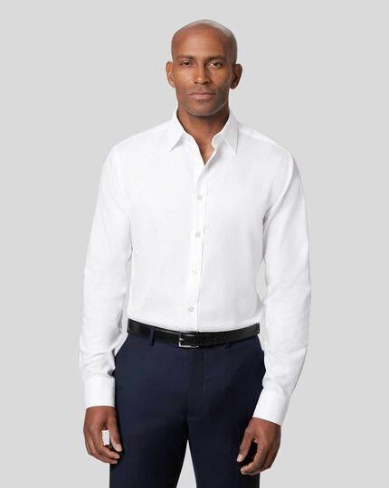Non-Iron Twill Shirt - White