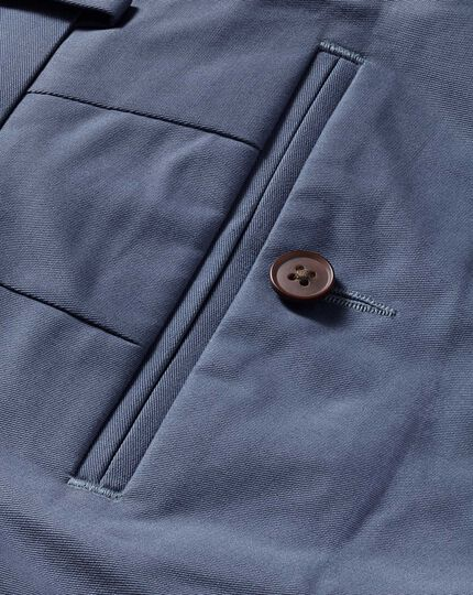 Blue slim fit stretch chinos