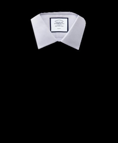 Chemise grise coupe droite tissage effet triangles sans repassage