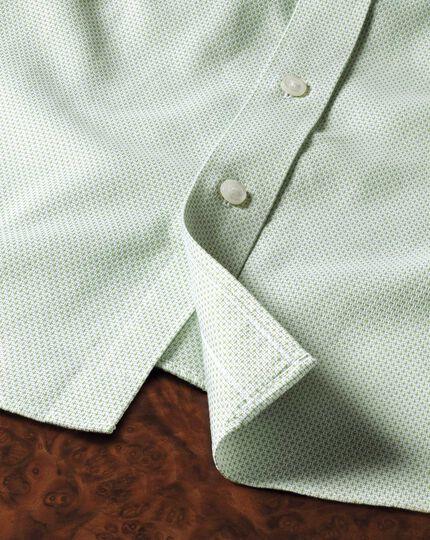 Bügelfreies Classic Fit Hemd in Hellgrün mit Imperial-Webstrukturen