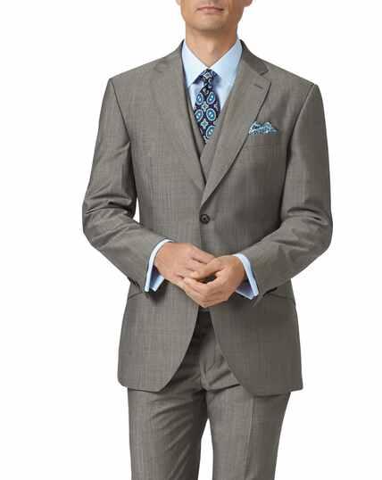 Grey slim fit Italian wool luxury suit jacket