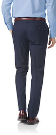Navy slim fit twill Italian luxury suit