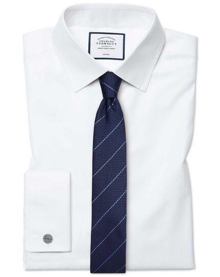 Extra slim fit white non-iron twill shirt