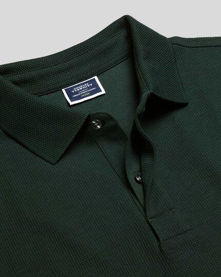 Tyrwhitt Cool Polo mit Waffelmuster - Grün