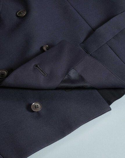 Italian Twill Suit Waistcoat - Navy