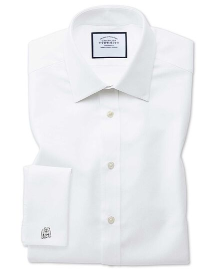 cfe6b3dc Extra slim fit Egyptian cotton royal Oxford white shirt | Charles ...