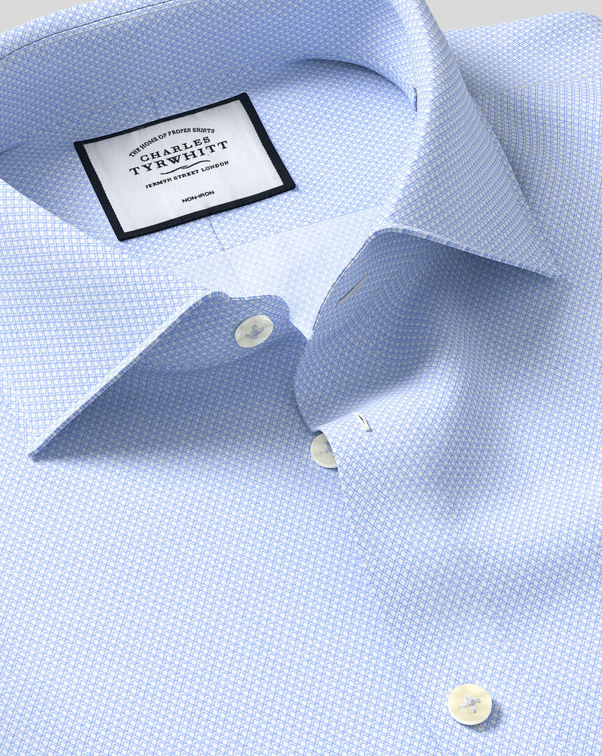 Charles Trywhitt Casual Cotton Stretch Shirt White Mens Size UK 15.5//33 *REF92