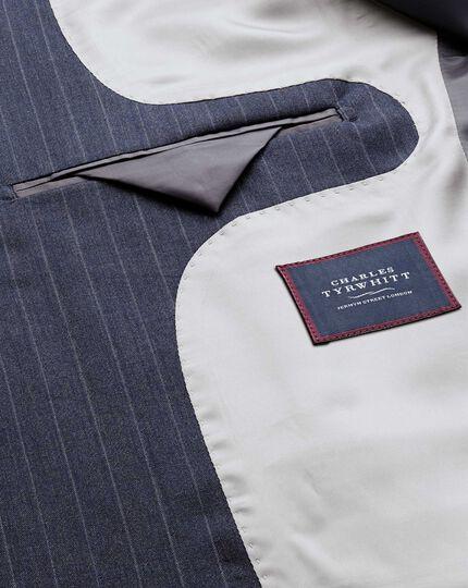 Businessanzug-Sakko Classic Fit Panamagewebe mit Streifen in Airforceblau