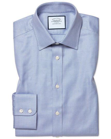 Extra slim fit Egyptian cotton chevron sky blue shirt