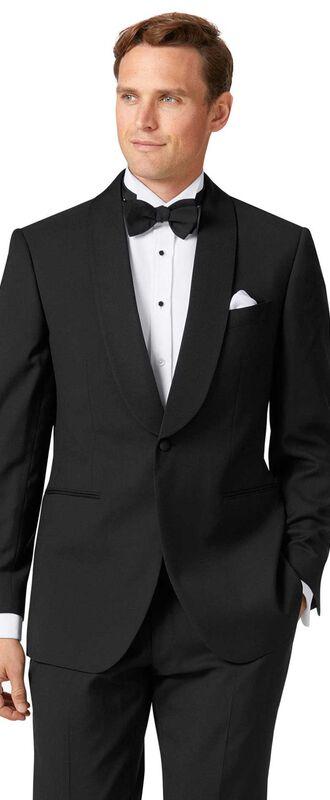 Veste de costume de soirée noire slim fit avec col châle