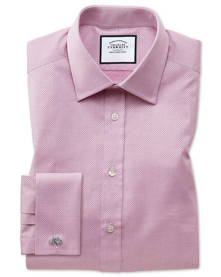 Cube Weave Egyptian Cotton Shirt - Magenta