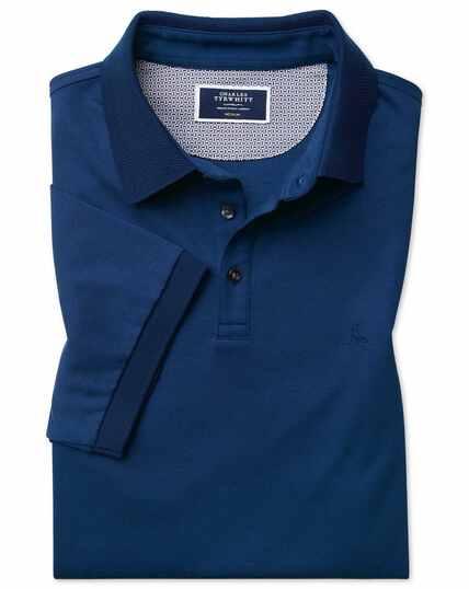 Lapwing polo en jersey bleu