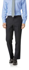 Charcoal birdseye classic fit travel suit