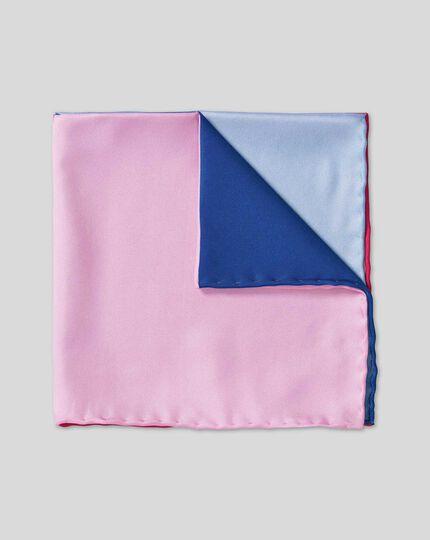 Quarter Pocket Square - Blue & Pink