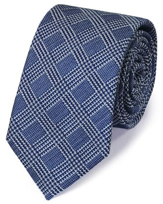 Royal wool mix fleck prince of wales check classic tie