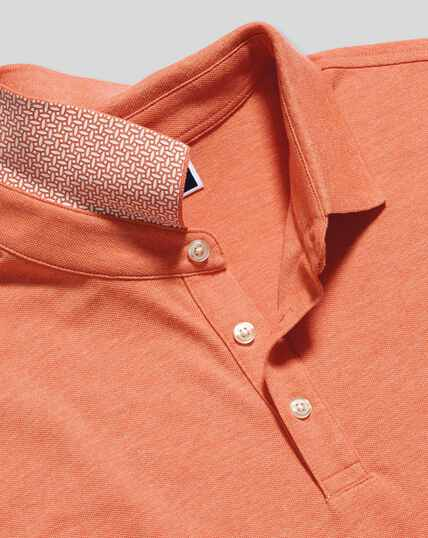 Tyrwhitt Piqué-Polo - Orange meliert
