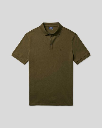 Tyrwhitt Pique Polo - Dark Green
