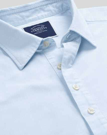 Classic Collar Short Sleeve Artist Shirt - Sky