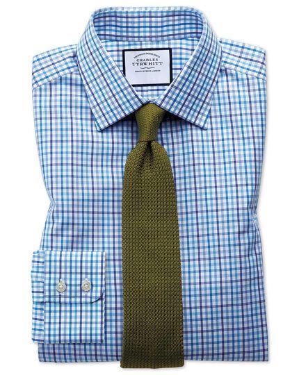 Poplin Multi Check Shirt - Blue