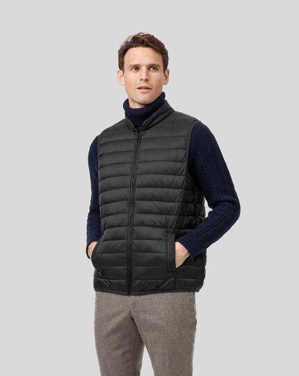 Shower Resistant Hooded 3 In 1 Raincoat - Black