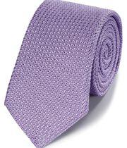 Violet silk grenadine italian luxury tie