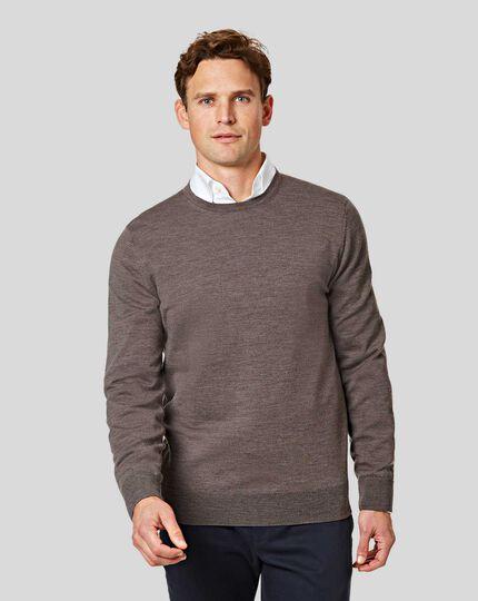 Merino Crew Neck Sweater - Mocha