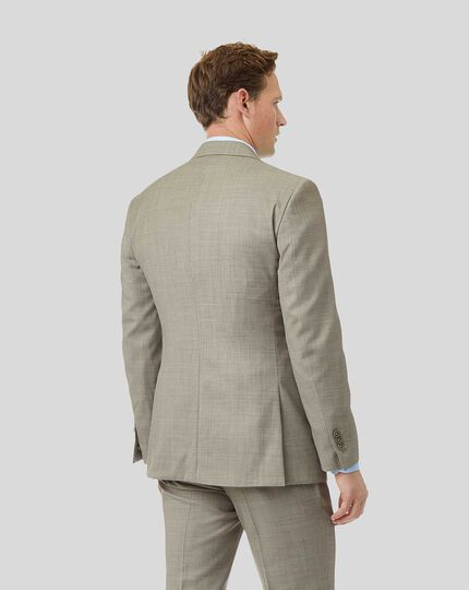 Textured Suit Jacket - Stone