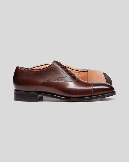 Made In England Oxford Flex Sole Shoe  - Mahogany