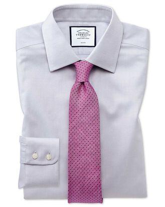 Bügelfreies Extra Slim Fit Hemd aus Triangle Gewebe in Grau