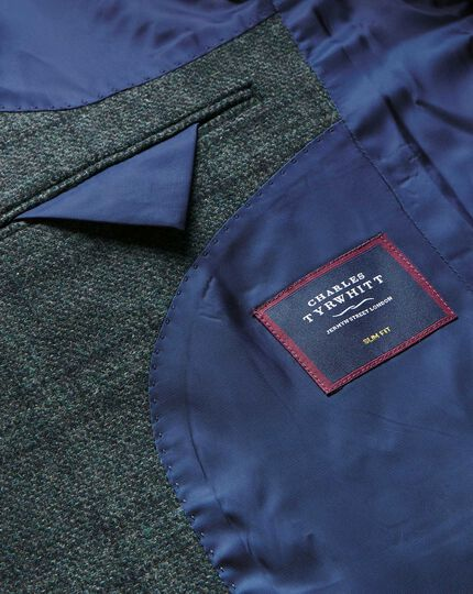 Tyrwhitt Gent Check Wool Jacket - Green & Blue