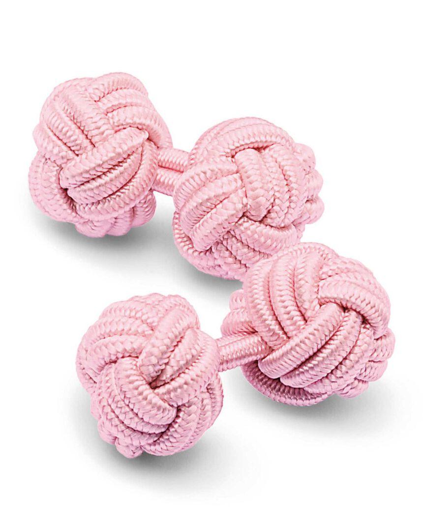 Seidenknoten-Manschettenknöpfe in Rosa
