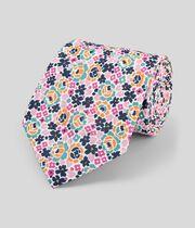 Klassische Krawatte aus Baumwolle & Leinen mit floralem Print - Bunt