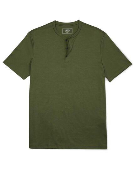 Olive short sleeve Henley t-shirt