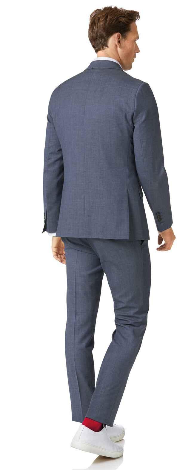 Businessanzug Extra Slim Fit Merinowolle in Airforceblau
